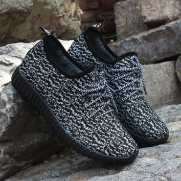 Unisex Black Yeezy Boost Sneakers Running Sports Shoes