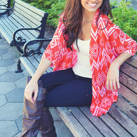Roses Are Red Cardigan: Red/Pink | Hope's