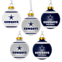 Dallas Cowboys  Official NFL 5 Pack Shatterproof Ball Ornament
