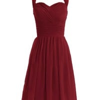 Diyouth Short Halter Bridesmaid Dresses Sweetheart Formal Party Gowns Backless