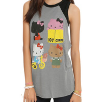 Hello Kitty Retro Lineup Girls Muscle Top