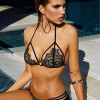 Underwear Set The Temptation To Strappy-Style Lace Lingerie