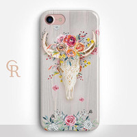 Bohemian Skull Phone Case For iPhone 8 iPhone 8 Plus - iPhone X - iPhone 7 Plus - iPhone 6 - iPhone 6S - iPhone SE - Samsung S8 - iPhone 5