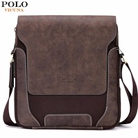 Vintage Casual Patchwork Durable Man Bag With Leather Cover Fashion Mens Travel Bag Fashion Corssbody Bag Man