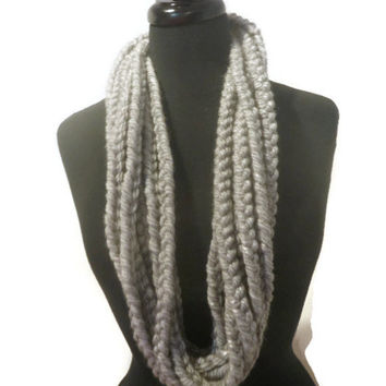 Super chunky chain scarf, cowl scarf, infinity scarf, rope scarf