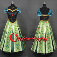 Snow Queen Anna Coronation Cosplay Costume Dress (Ver. B)