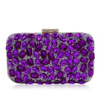 Luxury crystal Clutch bags bling rhinestone evening bags rose red women evening clutch bags party bag