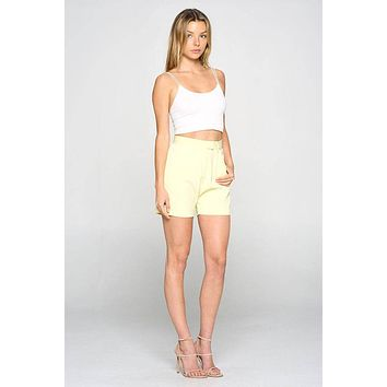 Fore Collection High-Waisted Shorts
