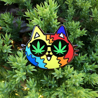 Meowy Jane Stoner Cat Enamel Pin