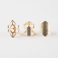 FULL TILT 3 Piece Geo Ring Set | Rings