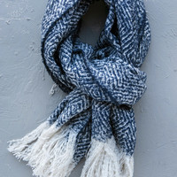 Heathered Diamond Tassel Scarf