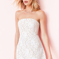 Keepsake Every Way Strapless Lace Mini Dress | Urban Outfitters