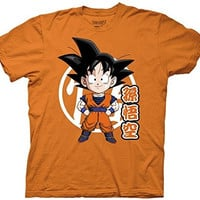 Ripple Junction Dragon Ball Z Goku Chibi with Kanji Adult T-Shirt