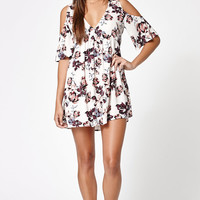 Kendall and Kylie Allover Print Cold Shoulder Dress at PacSun.com