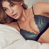 Out From Under Shimmer Lace Triangle Bra   Urban Outfitters