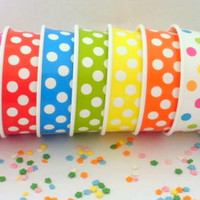 50 Polka Dot Ice Cream Cups - Your Choice of Color - Large with DIY Labels