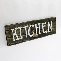 Kitchen Sign, Wood Kitchen Sign, Hand Painted, Wooden Kitchen Sign, Recycled Wood, Kitchen Decoration, Reclaimed Pallet Wood, Kitchen Decor