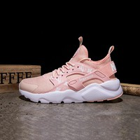 Best Online Sale LV x Supreme x Nike Air Huarache Custom Light Pink White Sport Running Shoes