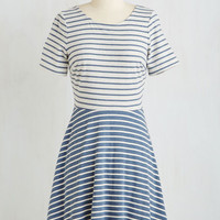 Americana Mid-length Short Sleeves A-line Hold Your East End Up Dress