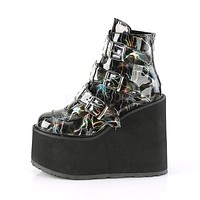 "Swing 105LGT Demonia Gothic 5.5"" Platform Ankle Boot Alternative Punk - Lightning Bolt"