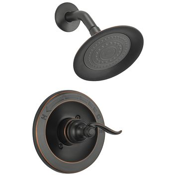 Delta Faucet Windemere Single-Function Shower Trim Kit with Single-Spray Shower Head, Oil Rubbed Bronze BT14296-OB (Valve Not Included) Shower Faucet Oil-Rubbed Bronze Without Rough