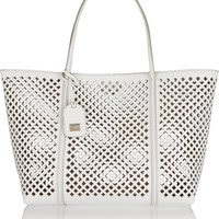 Dolce & Gabbana - Escape medium perforated textured-leather tote