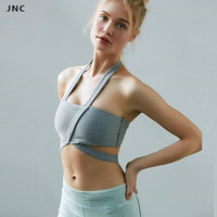 Cute Women Sports Bra Push Up Padded Yoga Crop Top Strappy Fitness Bra For Ladie