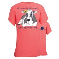 Southern Couture Be Beautiful Cow T-Shirt