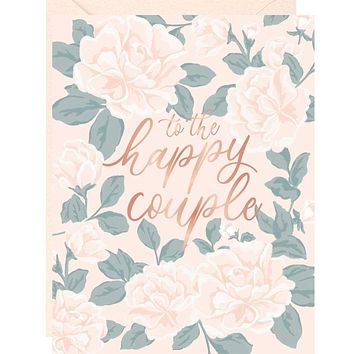 Happy Couple Floral A2 Single Card