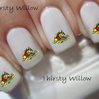 Melted Rubik's Cube Nail Decal
