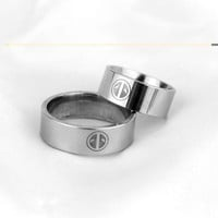 Marvel Comics Rings For Women Men DEADPOOL Logo Stainless Steel BAND RING Size US 7 to 13 New Jewelry Dropshipping