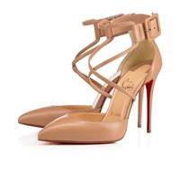 Christian Louboutin Cl Suzanna Nude Leather Pumps 3171161pk1a -