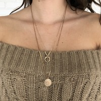 Earned Medal Gold Layered Necklace