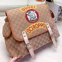 GUCCI New fashion embroidery more letter shoulder bag crossbody bag book bag backpack bag