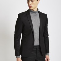 The Idle Man Suit Jacket in Skinny Fit - Black - Suits & Blazers - Clothing - Shop at The Idle Man