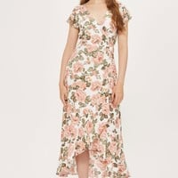 **Arden Rose Frill Wrap Dress by Nobody's Child | Topshop