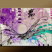 Abstract Canvas Art Painting 40x30 Contemporary Original Wall Art Paintings by Destiny Womack -  dWo - Thinking Outloud ON SALE