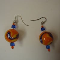 Designer Fashion Earrings Drop/Dangle Female Adult Multi-Color -- Preowned
