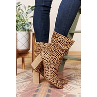 Strut Like You Mean It Slouch Booties (Cheetah)
