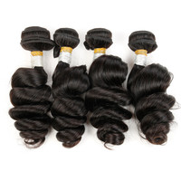 """Online Shop Malaysian Loose Wave 7A Unprocessed Malaysian Virgin Hair 4 Bundles Rosa Hair Products 8""""-26"""" Remy Human Hair Weave 