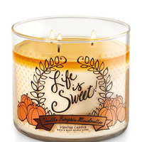 Vanilla Pumpkin Marshmallow 3-Wick Candle | Bath And Body Works