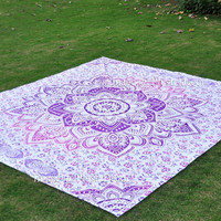 trendyystuff PLUSH DECOR 0091 Ombre Mandala Tapestry Bohemian Wall Hanging/Beach Throw, 215 by 235 cm