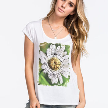 Volcom Rad Daisy Womens Tee White  In Sizes