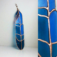 Feather, Stained Glass Feather Suncatcher, Stained Glass Feather, Window Hanging, Glass Art, Colorful Glass Feather, Bohemian Home Décor