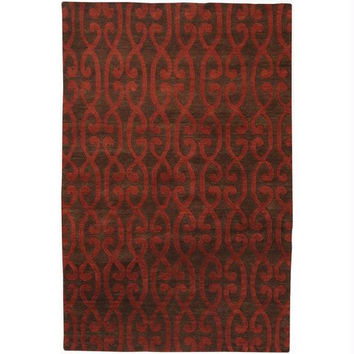 Area Rug - 5' X 8' - Colors Include Sienna Red,coffee Bean Brown