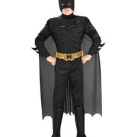 Batman Dark Knight Rises Child's Deluxe Muscle Chest Batman Costume with Mask/Headpiece and Cape | AihaZone Store