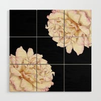 Roses - Lights the Dark Wood Wall Art by drawingsbylam