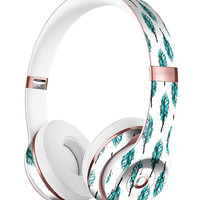 Splattered Teal Watercolor Feathers Full-Body Skin Kit for the Beats by Dre Solo 3 Wireless Headphones