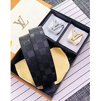 Louis Vuitton LV Fashion New Letter Double Buckle Women Men Leisure Belt