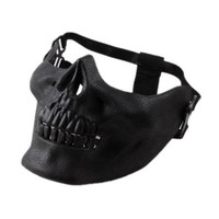 Minch 1 pc Scary Skull Skeleton Mask Halloween Costume Half Face Masks for Party